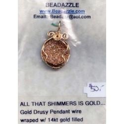 DWW47 - Gold Druzy