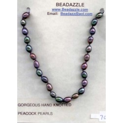 Hand Knotted Peacock Pearls