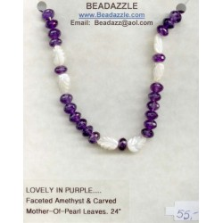 Lovely in Purple Necklace