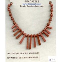 Goldstone Beaded Necklace