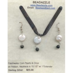 Coin Pearl Necklace &...